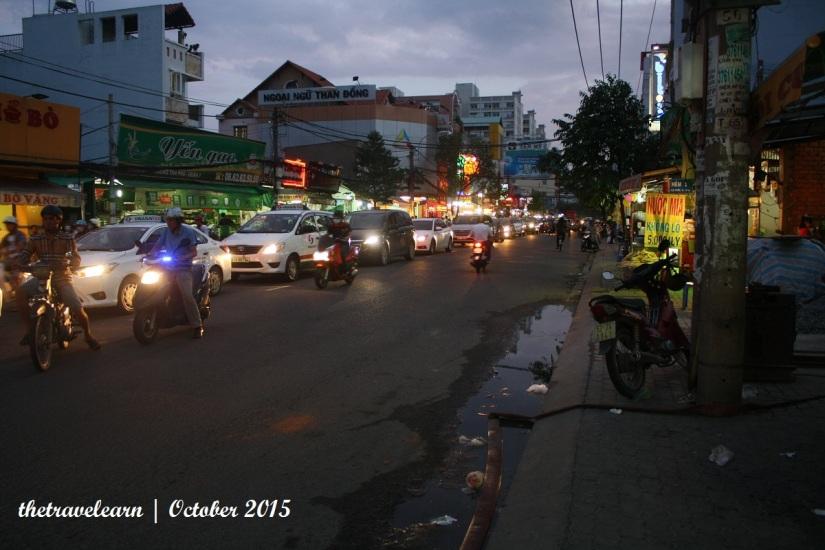naik taksi di Ho Chi Minh City, Vietnam