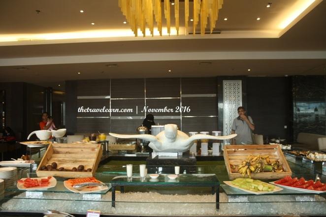 Meja menu (lagi) di Hotel Grand Tjokro Bandung