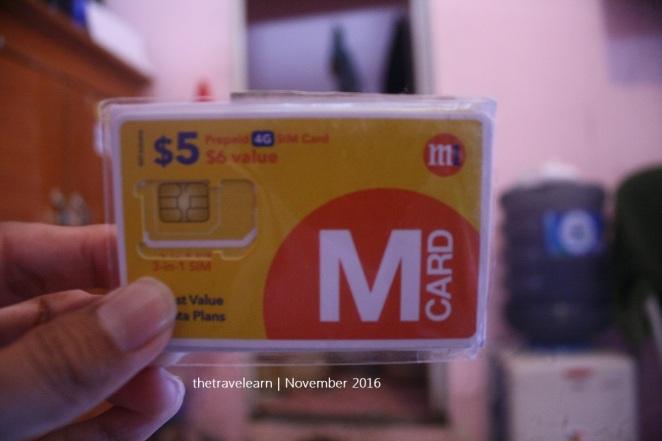 M Card dari provider M1, Singapore