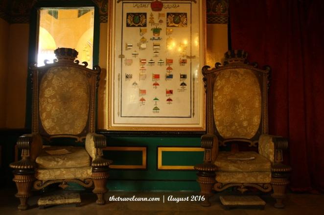 Singgasana Kerajaan di Dalam Istana Maimun