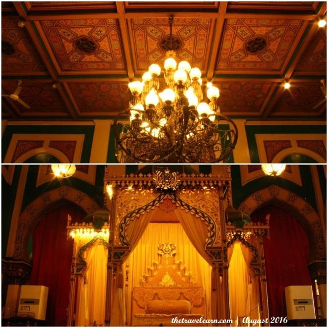 Kandelar di Dalam Istana Maimun yang Mewah
